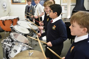 Prep School drummers in Instrumental Recital 2019