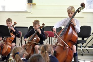 Prep School bassists in Instrumental Recital March 2019
