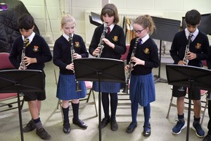 Prep School girls in Instrumental Recital March 2019