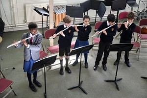 Prep School flautists in Instrumental Recital March 2019
