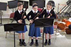 Prep School girls on bassoon in Recital Room March 19
