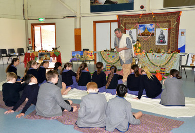 Buddhist Workshop in Prep School Hall for Form 2 2019