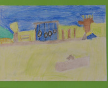 Yr 2 150th drawing of pre prep play area