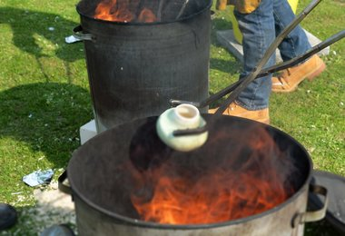 Raku Firing Produces Stunning Results