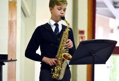 Saxophonist in L3 & U3 Concert May 2019