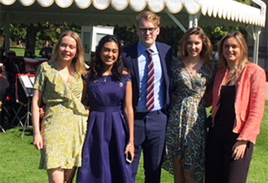 Old Stortfordians Collect Gold at Buckingham Palace