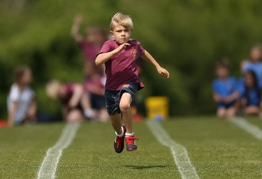 Determined runner on Pre-Prep sports day