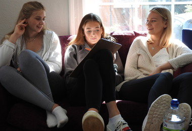 Benson House girls chatting