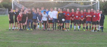 Staff v Sixth Form Football