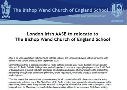 Exciting new partnership for our School