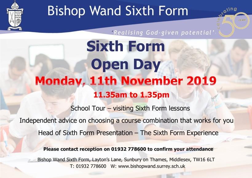 Sixth Form Open day 2019