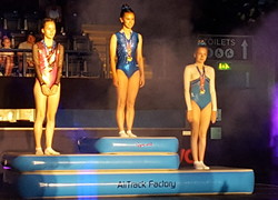 Trampolining stars compete nationally