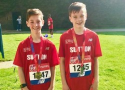 Max and Tom Represent Sutton in Mini Marathon!
