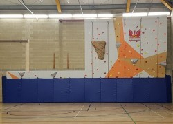 Climbing Wall is Installed over the Holiday
