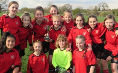 U12 Girls Football Win the Sutton Cup Final