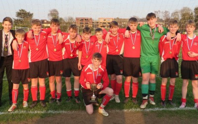 Year 9 Boys Football Win the Sutton Cup!