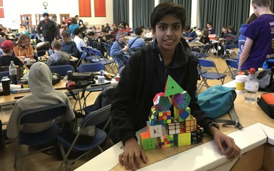 Year 8 Student Enters Rubik Cube Competition