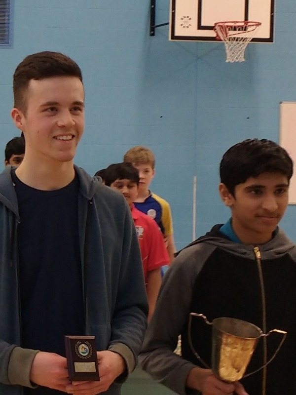 CGS Chiltern Junior Table Tennis Cup Winners