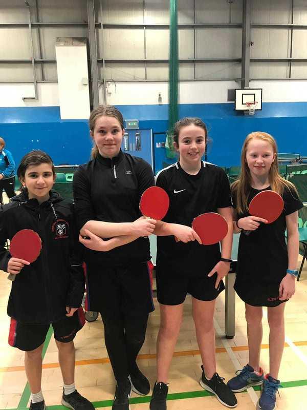 CGS Table Tennis Winners - U13 Girls