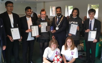 TNEC Team receive Rotary/Chiltern Chamber Award