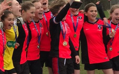 U13 Girls' Football Team win County Cup Final