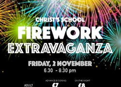 Christ's Fireworks Extravaganza Tickets On Sale Now