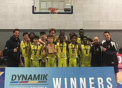 Three in a row! Christ's are Under 16 National Basketball Champions for the third time