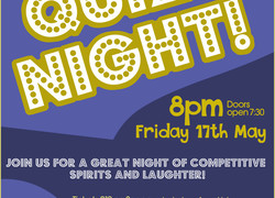 Quiz Night is Back - Friday 17 May