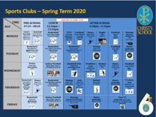 Sports Clubs Spring 2020