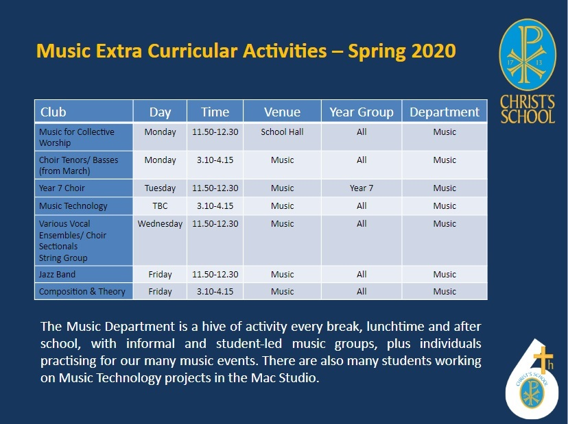 Extra Curric Clubs Jan to April 2020 3
