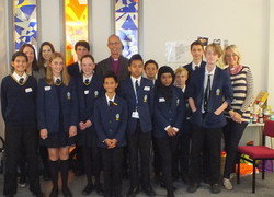 The Bishop of Kingston visit Christ's School