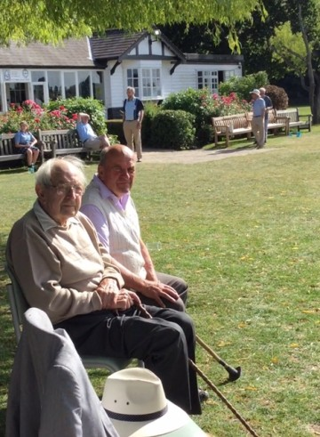 Honorary member Dr Tom Cullen & his son at the OCs Reunion Day, July 2015