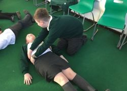 First aid lessons for pupils
