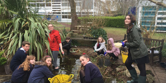 Pond Clearance by the Eco-Committee