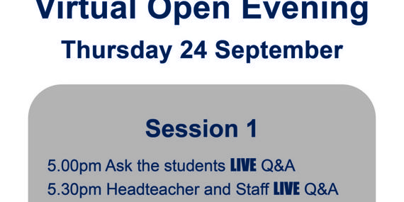 Virtual Open Evening 24th Sep
