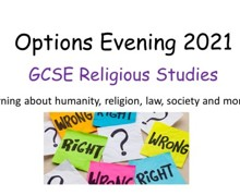 Religious studies options evening 2021