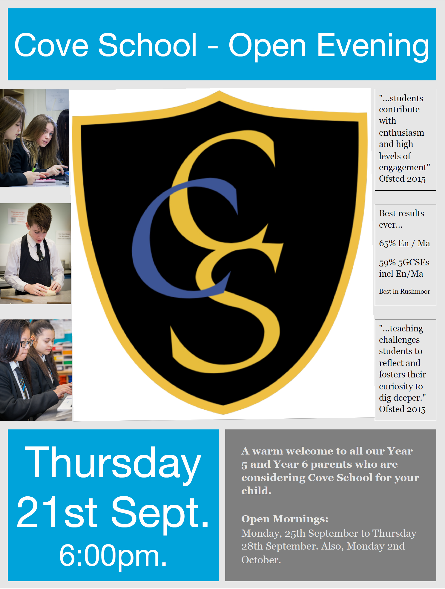 Open evening 2017 flyer
