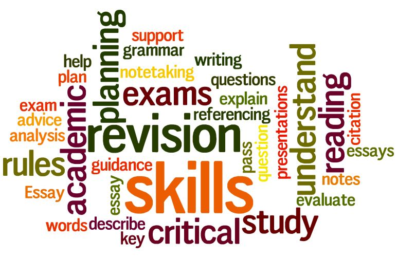 Study skills word cloud 1