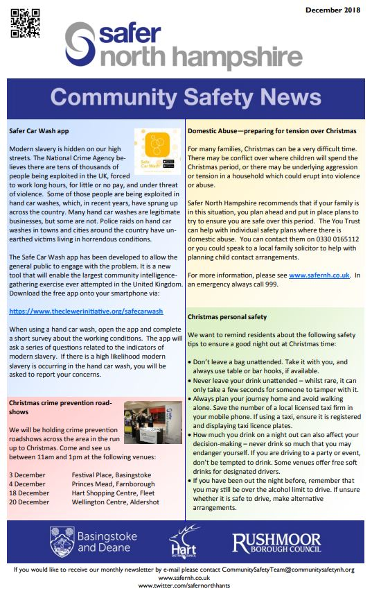 Safer north hampshire newsletter december 2018