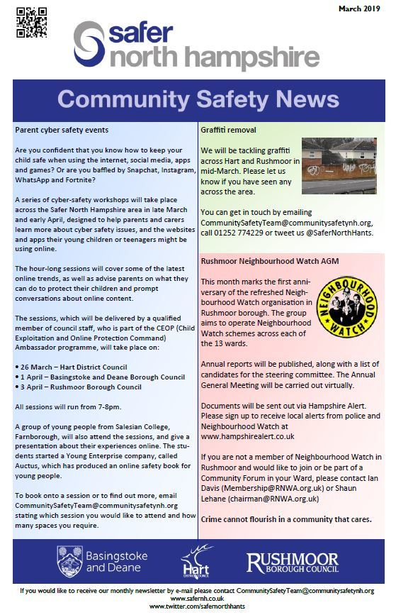 Safer north hampshire newsletter march 2019