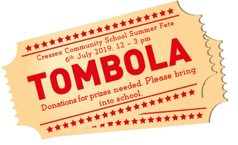 Tombola prizes required for Summer Fete