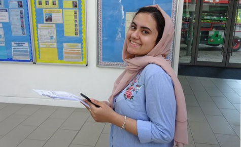 Students and staff celebrate another strong year of GCSE results