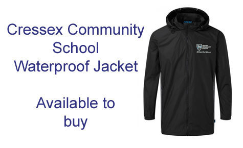 New Cressex Community School waterproof jacket available