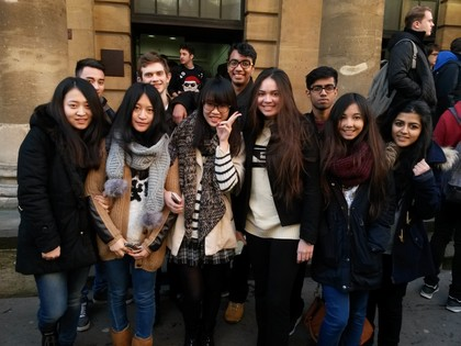Economics Class Attend Conference in City