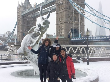 Snow in London!