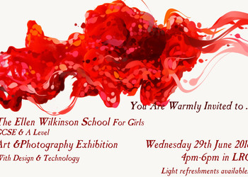 EWS Art, Photography and D & T Exhibition, Wednesday 29th of June