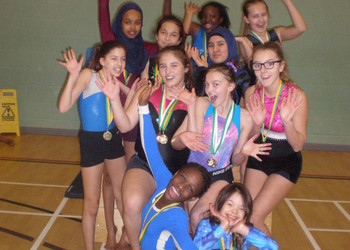 EWS Gymnasts Win Gold at Borough Competition