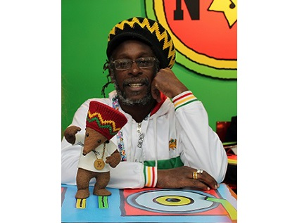 Michael de souza rastamouse with white background