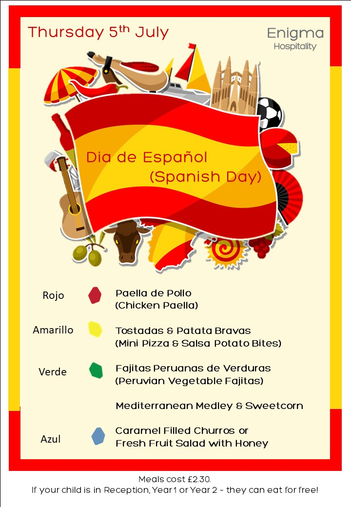 Spanish day 5th july 18
