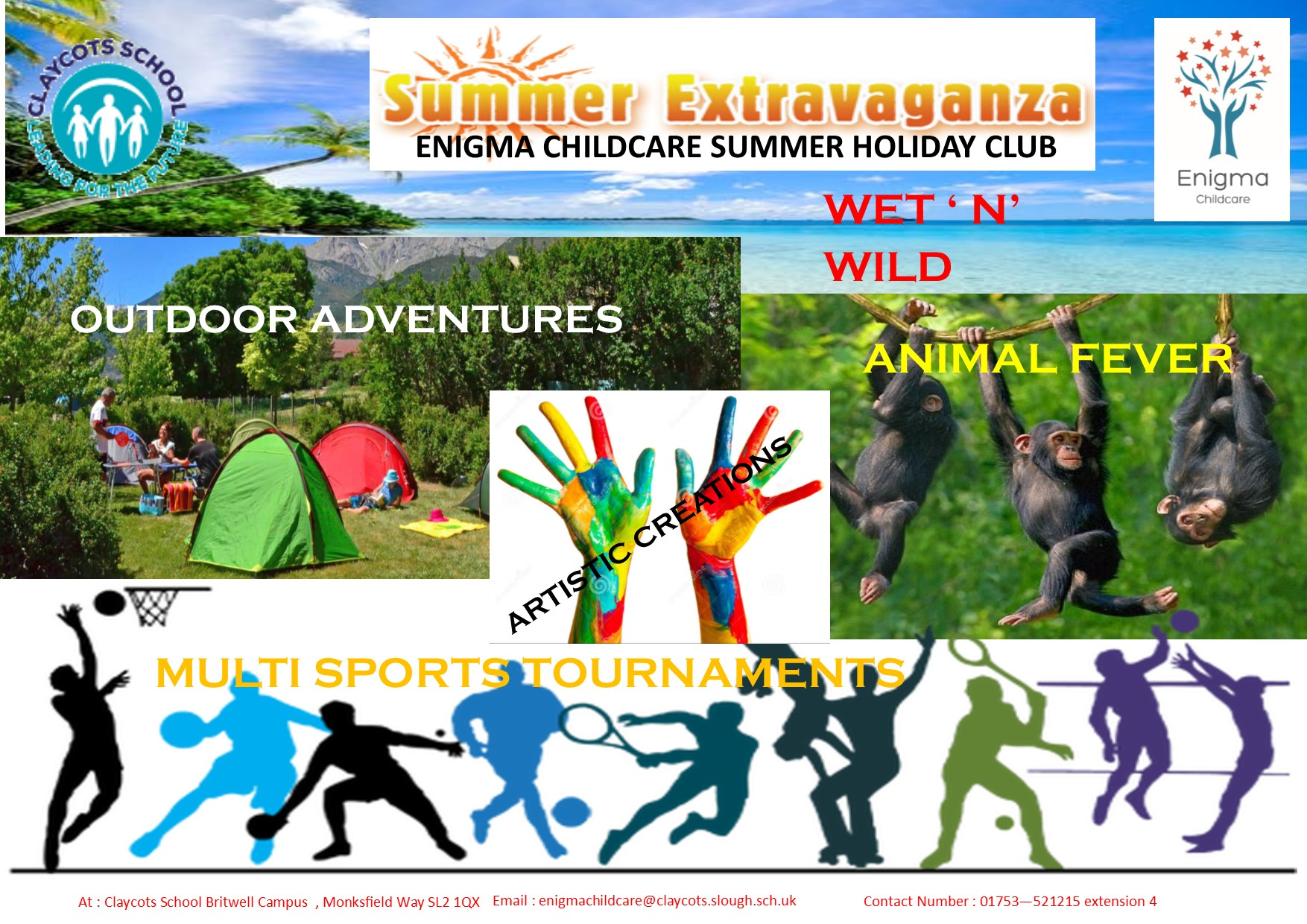 6weeks summer holiday flyer 2018